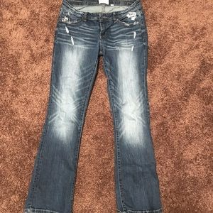 Buckle bootcut jeans